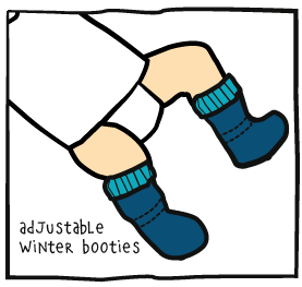 Ajudstable Winter Booties